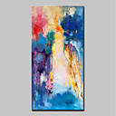 cheap Rolled Canvas Paintings-Oil Painting Hand Painted - Abstract Modern Canvas