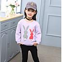 povoljno Majice za djevojčice-Djeca Djevojčice Osnovni Jednobojni Dugih rukava Regularna Pamuk / Poliester Bluza Crvena 100