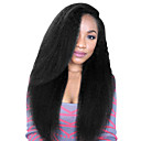 cheap Human Hair Wigs-8 to 24 inches brazilian human hair wigs kinky straight glueless lace front wigs for black women 130% 150% with Baby Hair / Natural Hairline / African American Wig