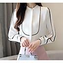 tanie Chusty ślubne-Koszula Damskie Podstawowy Solidne kolory Biały L