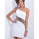 cheap Body Jewelry-Women's Daily / Birthday Street chic Skinny Sheath Dress - Solid Colored One Shoulder Summer White L XL XXL / Sexy