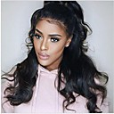 cheap Human Hair Wigs-Remy Human Hair Glueless Full Lace Full Lace Wig 360 Frontal Body Wave Wig 150% Hair Density Natural Hairline African American Wig 100% Hand Tied Women's Medium Length Long Human Hair Lace Wig