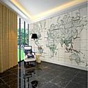 hesapli Tablolar-duvar kağıdı / Duvar Tuval Duvar Kaplamaları - Yapıştırıcı gerekli Resim / Art Deco / 3D