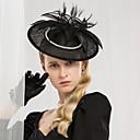povoljno Kentucky Derby Hat-100% posteljine Kentucky Derby Hat / Trake za kosu s Štras / Perje 1pc Special Occasion / Zabava / večer Glava