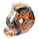 povoljno Motorističke maske za lice-velika usta vatre lubanja uzorak solarna automatska fotoelektrična maska za zavarivanje