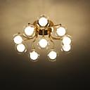 baratos Luminárias de Teto-ZHISHU 10-luz Sputnik / Geométrico Apliques de Tecto Luz Ambiente Galvanizar Metal Vidro LED, Novo Design 110-120V / 220-240V Branco Quente / Branco