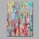 baratos Pinturas Abstratas-Pintura a Óleo Pintados à mão - Abstrato / Paisagem Contemprâneo / Modern Incluir moldura interna / Lona Laminada / Lona esticada