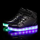 tanie Obuwie chłopięce-Dla chłopców / Dla dziewczynek Obuwie PU Jesień i zima Świecące buty Adidasy LED na Czarny / Srebrny / Niebieski
