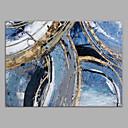 levne Abstraktní malby-Hang-malované olejomalba Ručně malované - Abstraktní Moderní Bez vnitřní rám / Válcované plátno