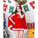 povoljno Božićni kostime-Santa Clothe Žene Odrasli Halloween Božić Božić Halloween Karneval Festival / Praznik Polyster odjeća Red Jednobojni Božić