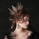 povoljno Party pokrivala za glavu-Crni labud Kruna Povorka maski Vintage Gothic Lolita Barroco Elegantno Okrugle naušnice Tiaras čelo kruna Za Maškare Prom Svadba Žene Djevojčice Kristal Crn Nakit odjeće