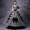 cheap Historical & Vintage Costumes-Fairytale Gothic Medieval Costume Women's Dress Outfits Party Costume Masquerade Black Vintage Cosplay Party Prom 3/4 Length Sleeve Puff / Balloon Sleeve Ball Gown Plus Size Customized