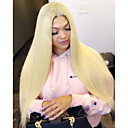 cheap Synthetic Lace Wigs-Synthetic Lace Front Wig Straight Style Layered Haircut Lace Front Wig Blonde Light Blonde Synthetic Hair 26 inch Women's Soft / Adjustable / Heat Resistant Blonde Wig Long Modernfairy Hair Natural