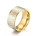 billige Herreringer-Herre Hvit Kubisk Zirkonium Klassisk Band Ring Ring - rustfritt Stilfull, Vintage, trendy 7 / 8 / 9 / 10 / 11 Gull / Svart Til Skole Gate