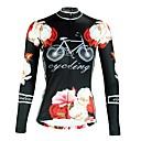 ieftine Îmbrăcăminte de Fitness, Alergat & Yoga-ILPALADINO Pentru femei Manșon Lung Jerseu Cycling - Negru Modă Bicicletă Topuri Rezistent la Ultraviolete Sport Iarnă Elastan Ciclism montan Ciclism stradal Îmbrăcăminte
