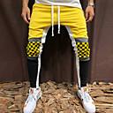 abordables Pantalons & Shorts Homme-Homme Basique Coton Joggings Pantalon - Bloc de Couleur Rouge / Printemps / Automne
