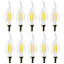 abordables Luces LED de Filamentos-YWXLIGHT® 10pcs 4 W Luces LED en Vela Bombillas de Filamento LED 300-400 lm E12 C35 4 Cuentas LED SMD Creativo Blanco Cálido Blanco Fresco 110-130 V