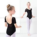 preiswerte Kindertanzkleidung-Ballett Turnanzug Mädchen Training / Leistung Elastan / Lycra Kombination Kurzarm Gymnastikanzug / Einteiler