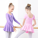 cheap Ballet Shoes-Ballet Dresses Girls' Training / Performance Elastane / Lycra Ruching / Wave-like Long Sleeve Dress