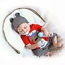 abordables Muñecas-NPKCOLLECTION MUÑECA NPK Muñecas reborn Bebés Niños 18 pulgada Cuerpo completo de silicona Vinilo - Recién nacido Regalo Bonito Kid de Chico Juguet Regalo