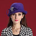 voordelige Hoofddeksels voor feesten-Elizabeth The Marvellous Mrs. Maisel Dames Volwassenen Dames Retro vintage Sluier Vilt hoeden hoed Paars Fuchsia Mozaïek Wol Hoofddeksels Lolita-accessoires