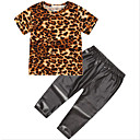 זול סטים של ביגוד לבנות-סט של בגדים שרוולים קצרים נמר בנות ילדים