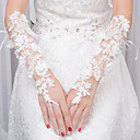 cheap Party Headpieces-Lace Elbow Length Glove Gloves With Appliques
