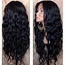 Χαμηλού Κόστους Περούκες από Ανθρώπινη Τρίχα-Φυσικά μαλλιά Δαντέλα Μπροστά Περούκα Μέσο μέρος στυλ Βραζιλιάνικη Κυματιστό Μαύρο Περούκα 130% Πυκνότητα μαλλιών με τα μαλλιά μωρών Φυσική γραμμή των μαλλιών Για μαύρες γυναίκες 100% παρθένα 100