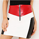 billiga Sexiga uniformer-Dam Streetchic Bodycon Kjolar Färgblock
