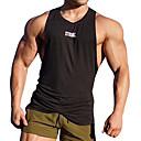 رخيصةأون قمصان وبنطلونات وشورتات الجري-رجالي رقبة عالية مدورة المتضخم تانك للجري أسود أخضر رمادي رياضات مطبوعة بأحرف وأرقام T-skjorte Fitness اكتشف - حل بدون كم ألبسة رياضية التنفس إمكانية   قابل للبسط قابل للبسط