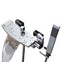 billige Syntetiske parykker med blonde-Badekarskran - Moderne Krom Badekar Og Dusj Keramisk Ventil Bath Shower Mixer Taps / To Håndtak to hull