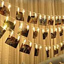 voordelige Decoratieverlichting-brelong led photo clip light 3m 30led warm wit licht altijd helder met flits