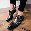 halpa Miesten Oxford-kengät-Miesten Comfort-kengät PU Kevät kesä Vapaa-aika Oxford-kengät Non-liukastumisen Musta / Musta ja kulta