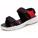 זול סנדלים לגברים-בגדי ריקוד גברים נעלי נוחות ג'ינס קיץ סנדלים שחור / אדום