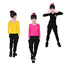 preiswerte Kindertanzkleidung-Ballett Austattungen Mädchen Training / Leistung Elastan / Lycra Muster / Druck Langarm Top / Hosen