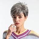 halpa Synteettiset peruukit ilmanmyssyä-Synteettiset peruukit Luonnollinen suora Tyyli Pixie-leikkaus Suojuksettomat Peruukki Tumman harmaa Harmaa Synteettiset hiukset 8 inch Naisten Muodikas malli / Tulokas / Mukava Tumman harmaa Peruukki