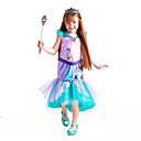 povoljno Movie & TV Theme Costumes-The Little Mermaid Aqua Princess Cosplay Nošnje Dječji Djevojčice Aktivan Halloween Božić Halloween Karneval Festival / Praznik Til Pamuk Zelen Karneval kostime Sirena