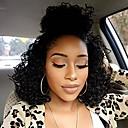 povoljno Perike s ljudskom kosom-Remy kosa Full Lace Lace Front Perika Asimetrična frizura stil Brazilska kosa Afro Kinky Natural Perika 130% 150% 180% Gustoća kose Modni dizajn Nježno Žene Udobnost kovrčav Žene Dug Perike s