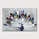 levne hodiny Díly-Hang-malované olejomalba Ručně malované - Abstraktní Pop Art Moderní Bez vnitřní rám / Válcované plátno