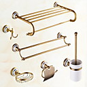 cheap Bathroom Accessory Set-Bathroom Accessory Set Creative Contemporary Brass 6pcs Wall Mounted
