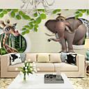 abordables Murales-papel pintado / Mural Lona Revestimiento de pared - adhesiva requerida Árboles y Hojas / Art Decó / 3D