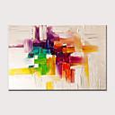 halpa Tulosteet-Hang-Painted öljymaalaus Maalattu - Abstrakti Moderni Ilman Inner Frame / Valssatut kankaat