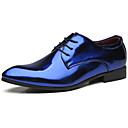 billige Slip-on sko ogloafers-Herre Formelle Sko Syntetisk Forår & Vinter Afslappet / Britisk Oxfords Ikke-glider Guld / Blå / Vin / Fest / aften