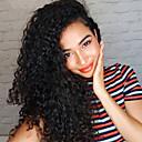 זול פיאות תחרה משיער אנושי-שיער ראמי תחרה מלאה חזית תחרה פאה תספורת אסימטרית Rihanna בסגנון שיער ברזיאלי אפרו קינקי עמוק שחור פאה 130% 150% 180% צפיפות שיער רך קלאסי נשים איכות מעולה שיער טבעי טבעי שחור בגדי ריקוד נשים ארוך