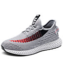 cheap Men's Athletic Shoes-Men's Comfort Shoes Mesh Winter Sporty / Casual Athletic Shoes Running Shoes Non-slipping Color Block Black / Gray / Black / Red