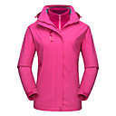cheap Softshell, Fleece & Hiking Jackets-DZRZVD® Women's Waterproof Hiking 3-in-1 Jacket Outdoor Winter Waterproof Windproof Rain Waterproof Breathability Jacket Top Waterproof Rain Proof Outdoor Exercise Back Country Mountaineering Red