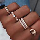 זול Fashion Ring-6pcs בגדי ריקוד נשים זירקונה מעוקבת רטרו טבעת הגדר טבעת רבת אצבעות - אבן נוצצת, סגסוגת כוכב נשים, פשוט, פאר, גאומטרי, עיצוב מיוחד, בוהו תכשיטים זהב עבור מסיבת ערב לילה בחוץ ואירוע מיוחד רחוב 6