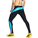 cheap Fitness, Running & Yoga Clothing-Men's Patchwork Running Tights / Compression Pants - Green, Blue Sports Color Block Tights Fitness, Gym, Workout Activewear Breathable, Quick Dry, Sweat-wicking Skinny