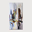 abordables Cuadros Abstractos-Pintura al óleo pintada a colgar Pintada a mano - Abstracto Modern Sin marco interior / Lienzo enrollado