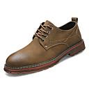 זול נעלי בד ומוקסינים לגברים-בגדי ריקוד גברים נעלי נוחות PU אביב יום יומי נעלי אוקספורד ללא החלקה שחור / חום